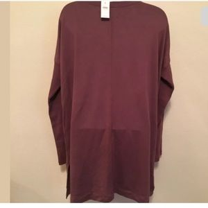 Lou & Grey Tops - NWT Lou & Grey Large Purple long sleeve Shirt (p)